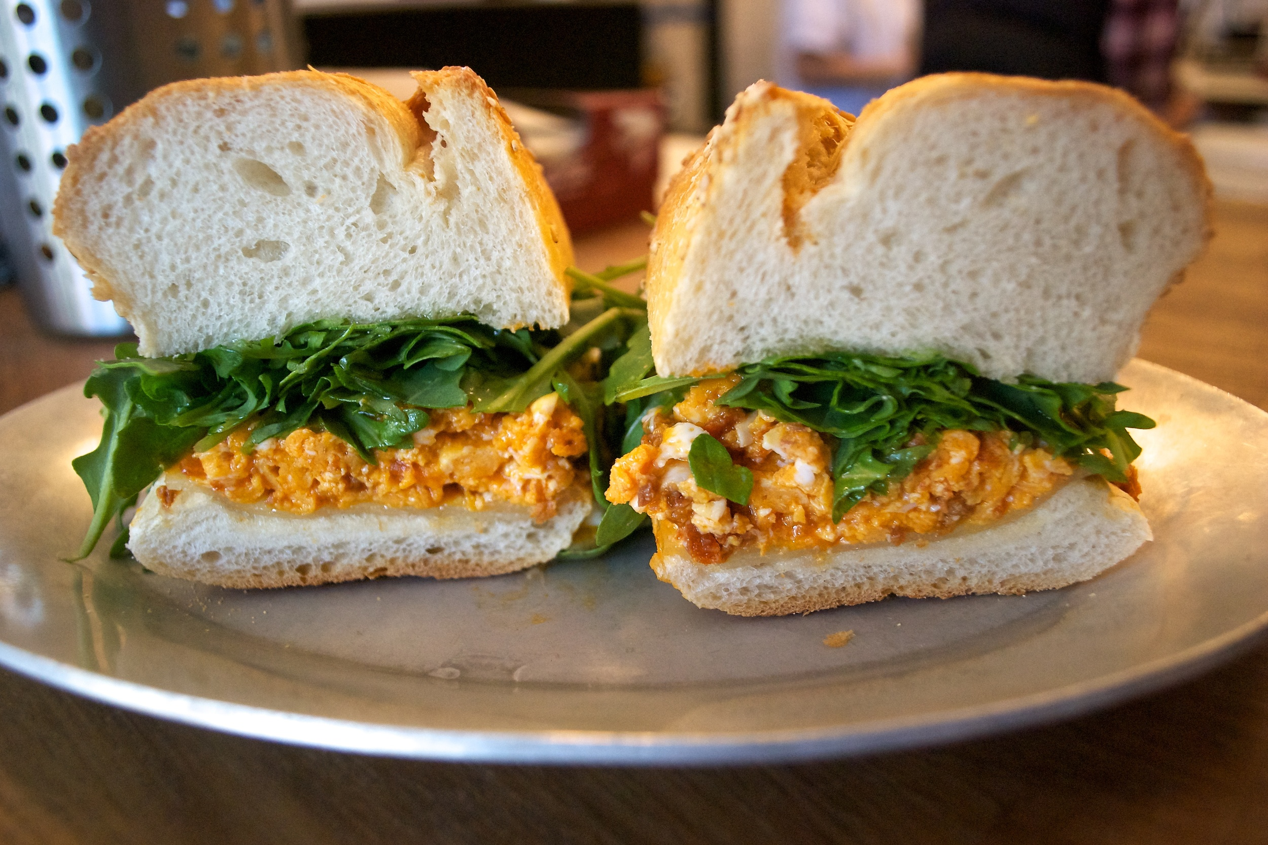 Chorizo Breakfast Sandwich at Court Street Grocers Hero Shop, Red Hook, Brooklyn