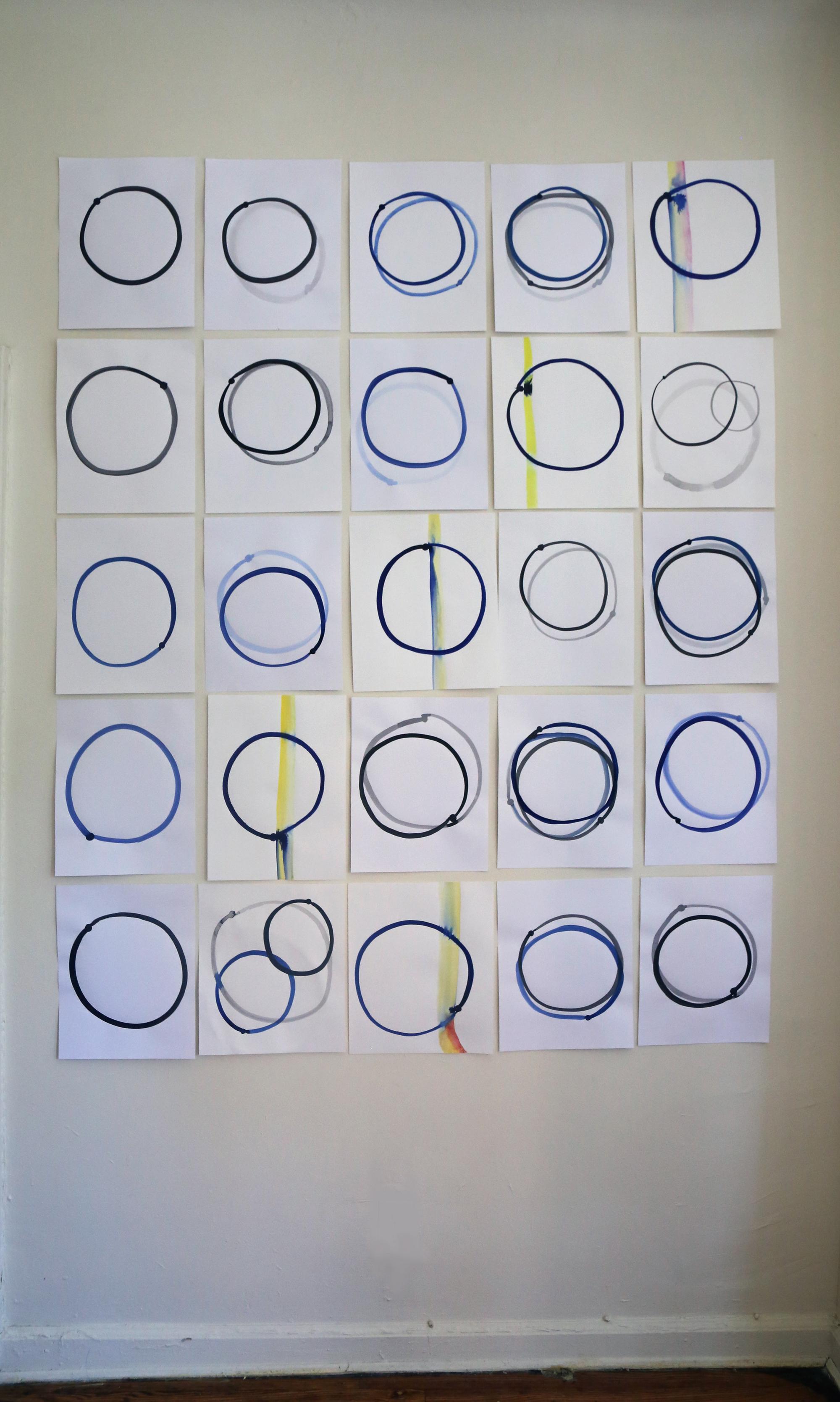 "Dot orbits series 2019 (50x74"")"