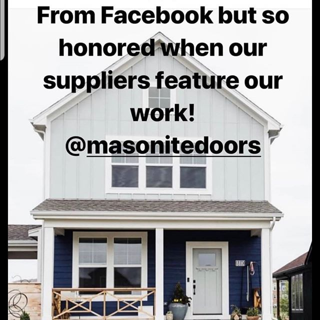 Wow! What a cool shout out! The vendor of the builder of our house used us as a promo.  And they like my garden design :) @cardinalcresthomes  @masonitedoors