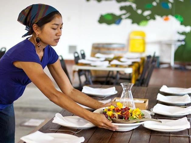 Chef Aileen Suzara at work