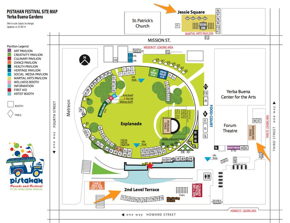 Pistahan festival map at Yerba Buena Gardens