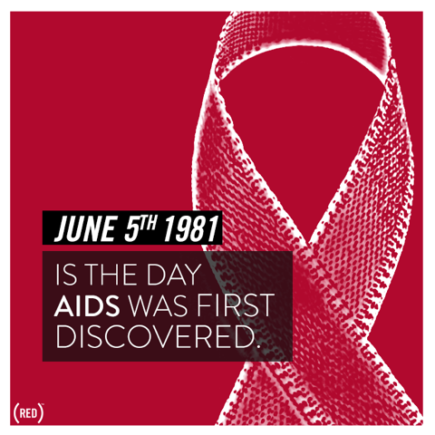 red the day aids was discovered