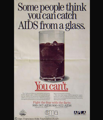 An early San Francisco AIDS PSA - A part of education efforts that have diminished