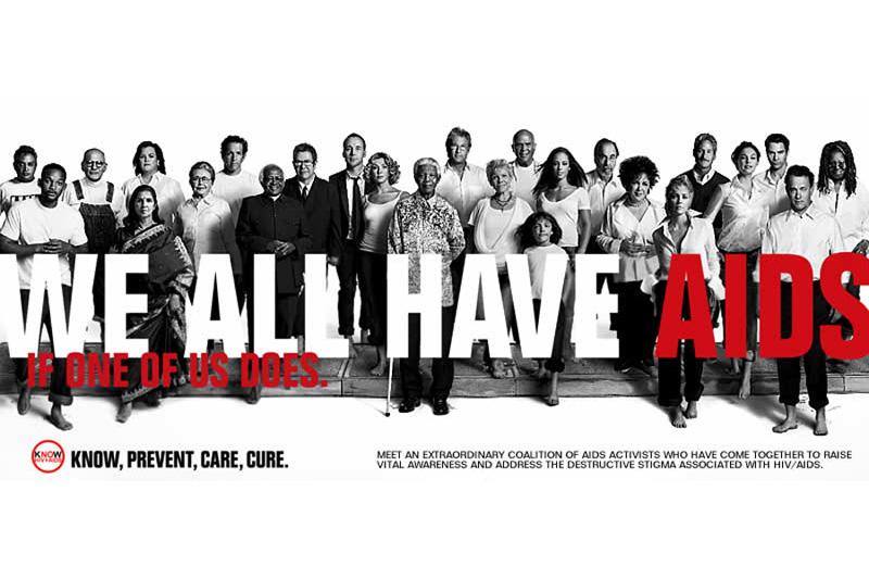 Amfar's recent AIDS awareness campaign...