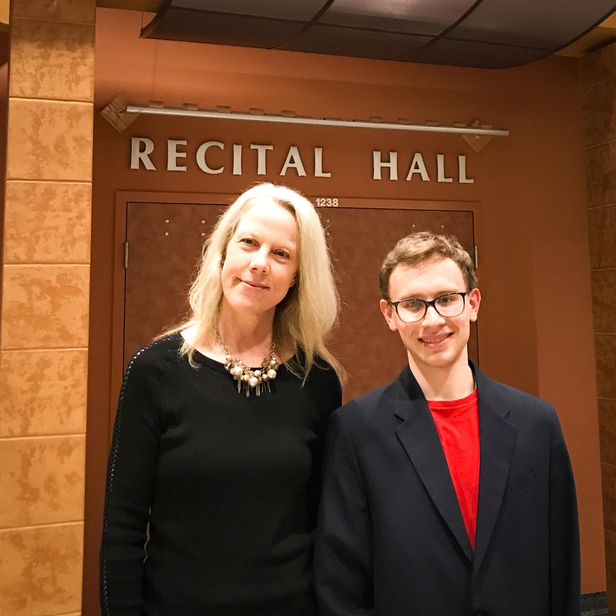 2018 winner Andrew Gurdak after his concerto performance