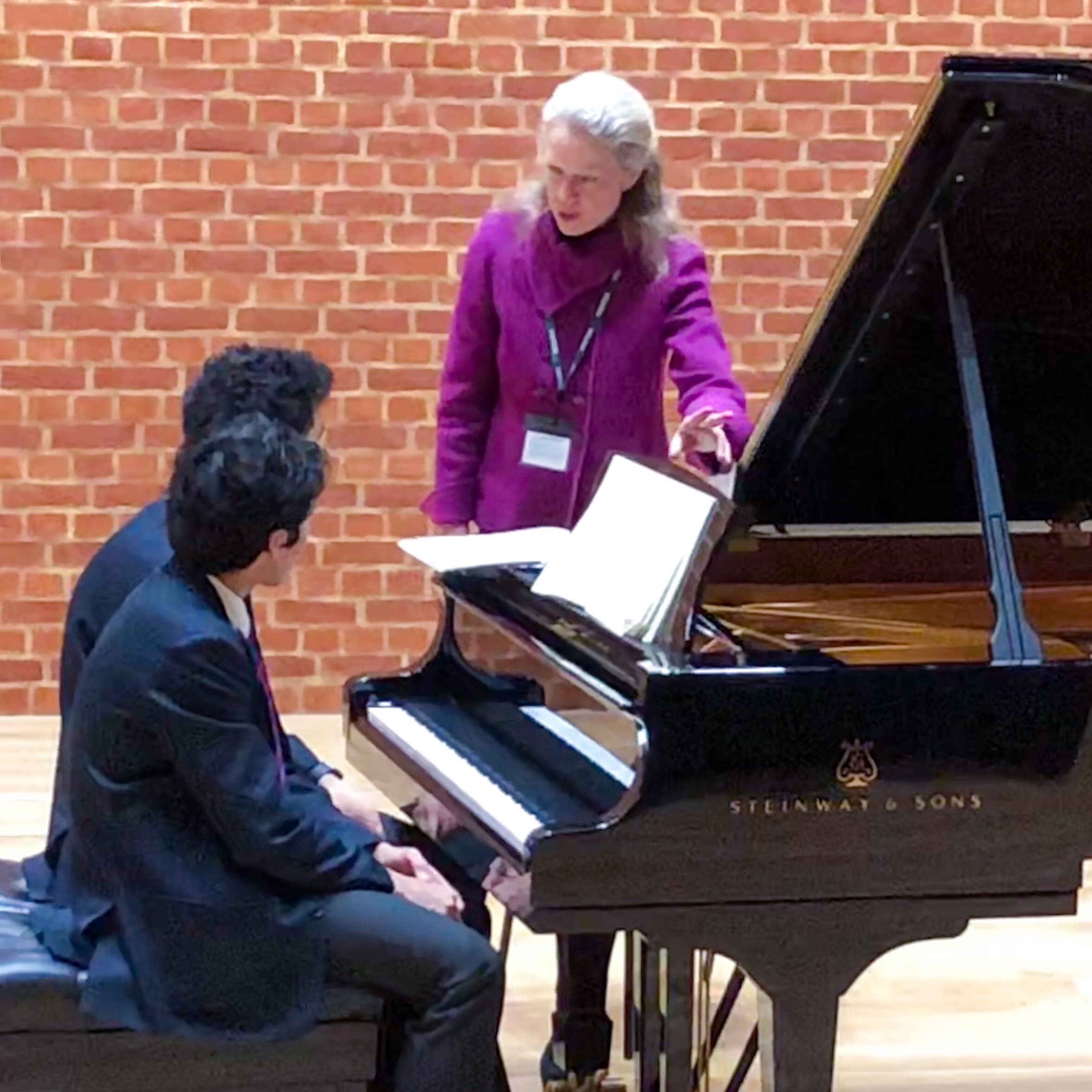 Here we are developing the main features of a duet played by two brothers. Loved working with them in this amazing venue created by the architects of Glyndebourne Opera House, and of course I adored their Germany Steinway D.