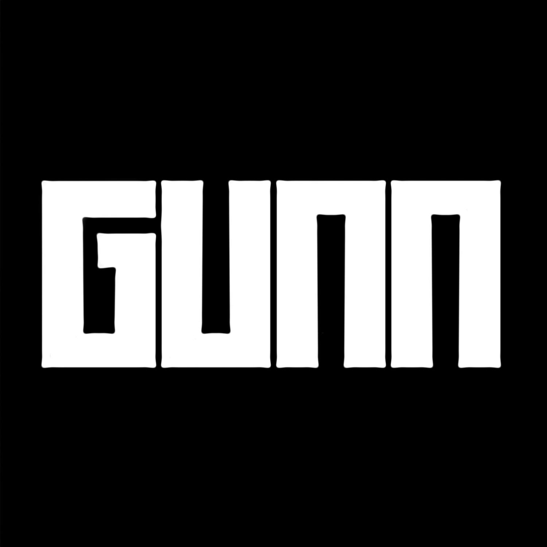 Dk gunn    custom font   logo