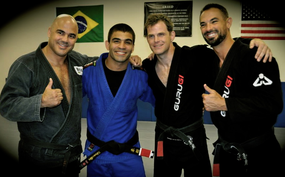 Here is Luke with - Left to Right…Leo Dalla, Vitor Shaolin Ribeiro, Adam Mcwilliams (1 of Luke's Black Belts) and Luke Rinehart.