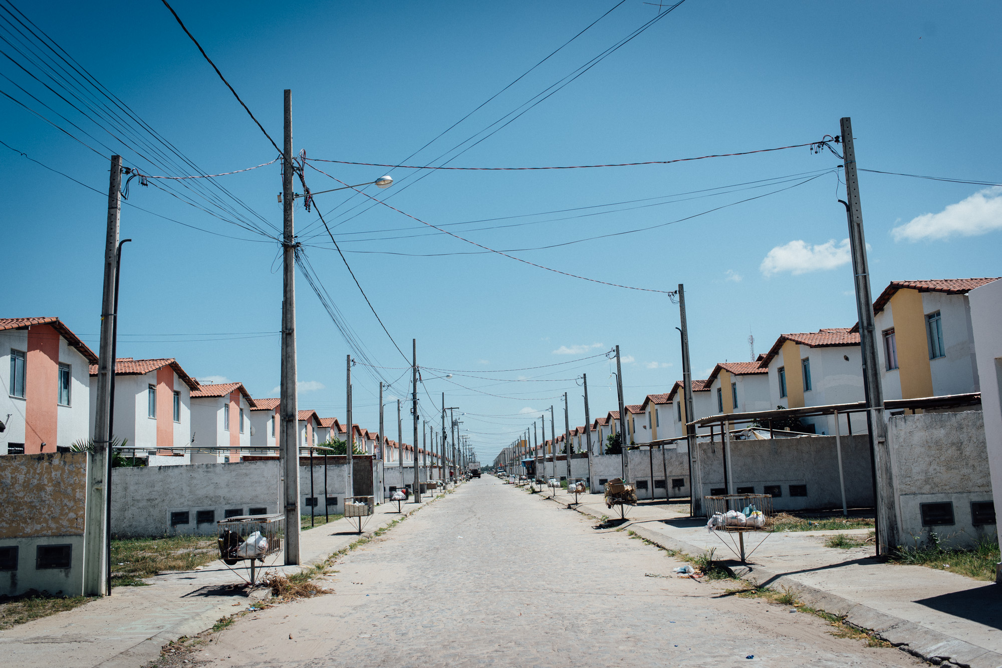 The dizzying view down a street at the Irma Dulce housing complex in Joao Pessoa.