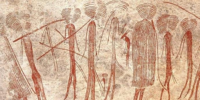 Cave Paintings in the Kolo Hills, Tanzania