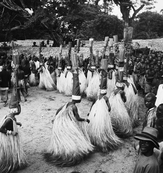 Masqueraders from eastern Igboland, Nigeria