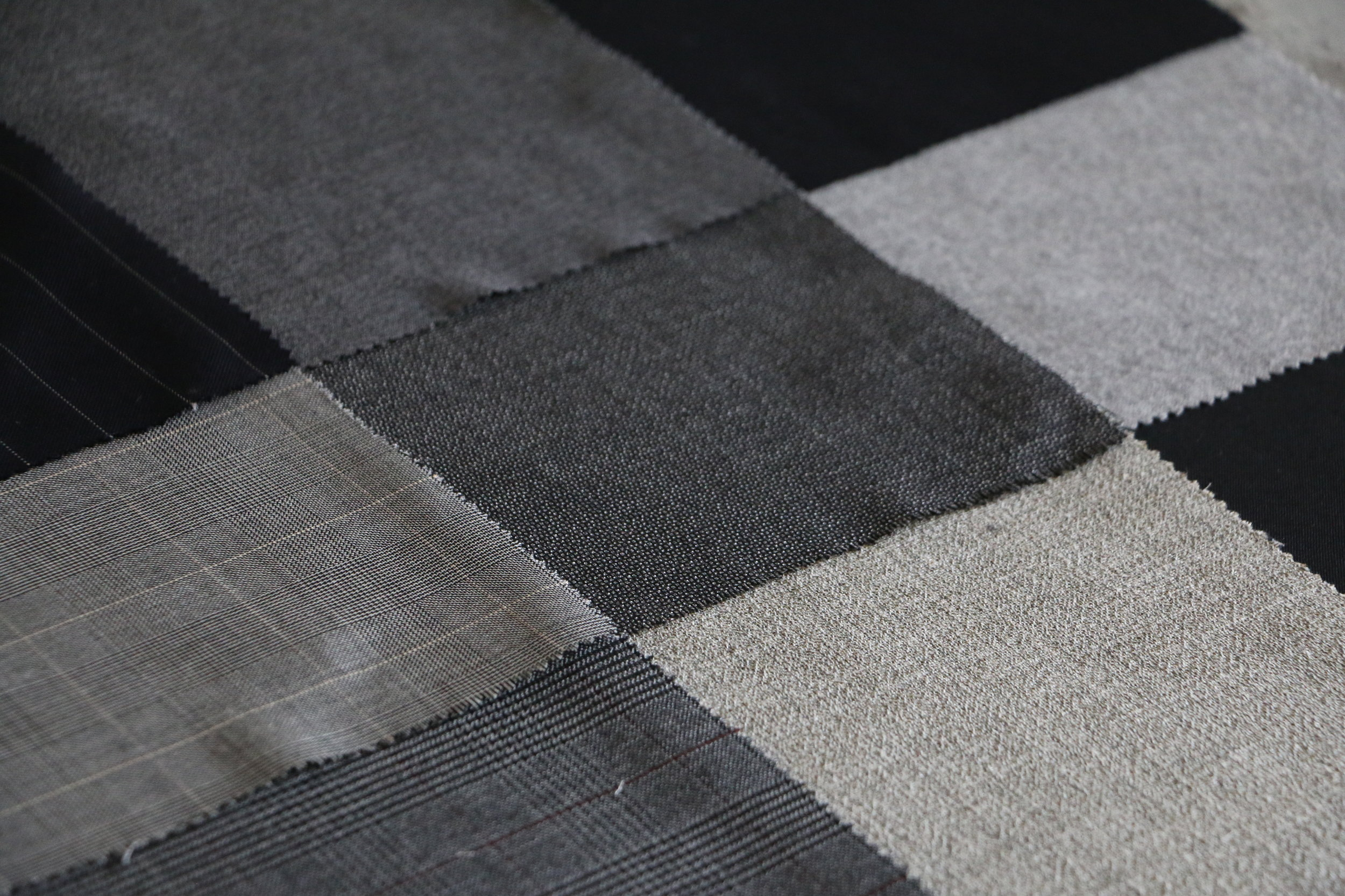 - All wools used to make the pieces are sourced from historic weavers located in northern Italy, notably in Biella, as well as in Yorkshire county, England.