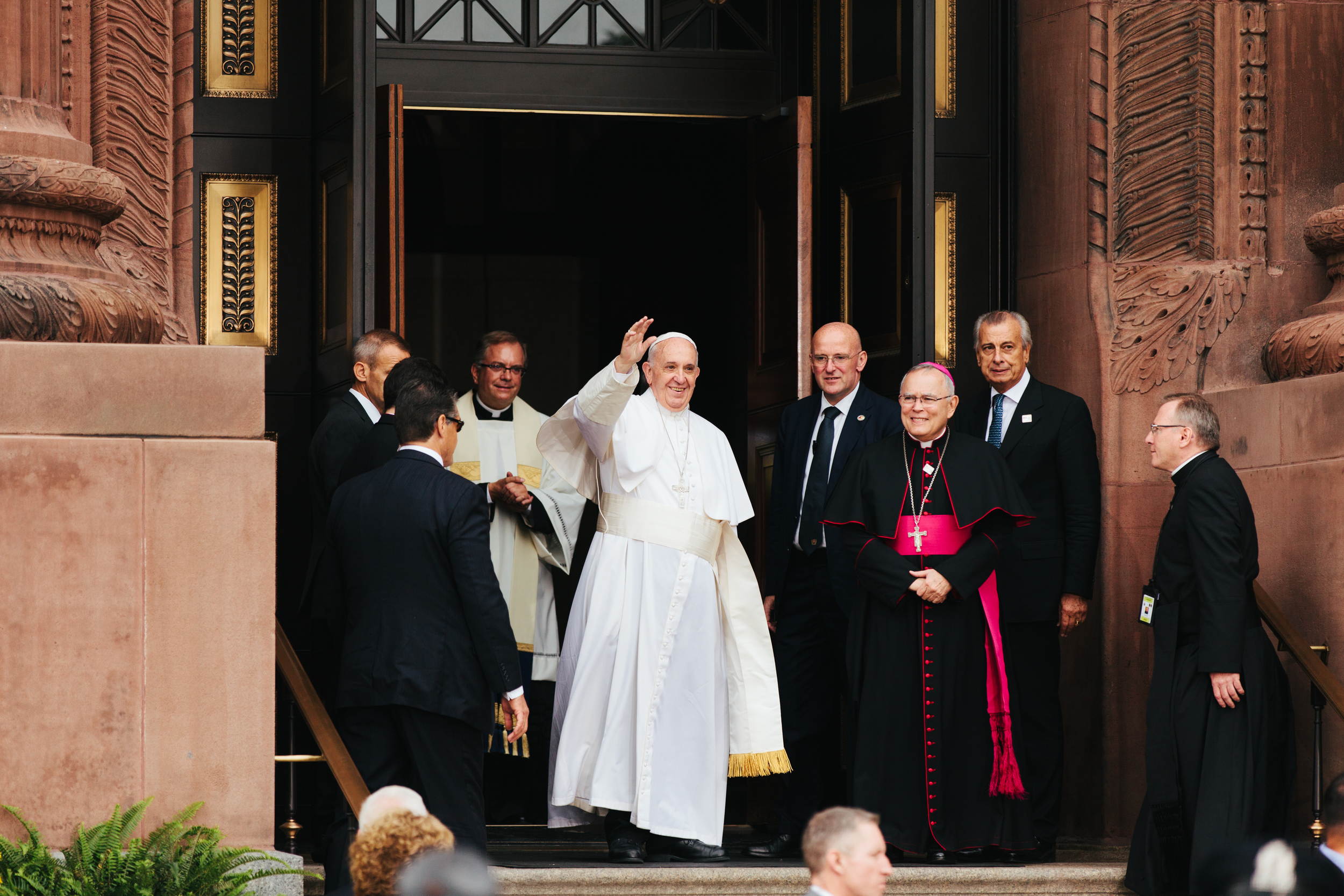 Pope Francis in Philadelphia at the Basilica