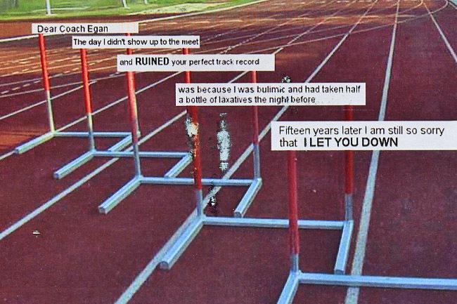Track and Sports PostSecret