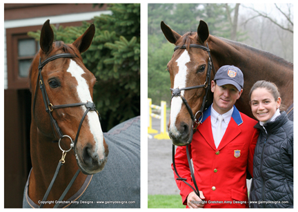 Mclain Ward & Sapphire - Photos taken by myself of Mclain Ward, wife Lauren, and famous show jumper Sapphire at Castle Hill Farm for the book