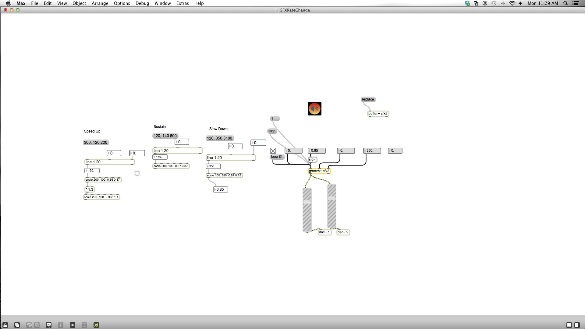 Modeling Responsive SFX with MaxMsp — Zach Dunham