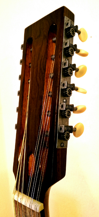 The Slotted Headstock: Made just short enough to fit in a standard 00 case.