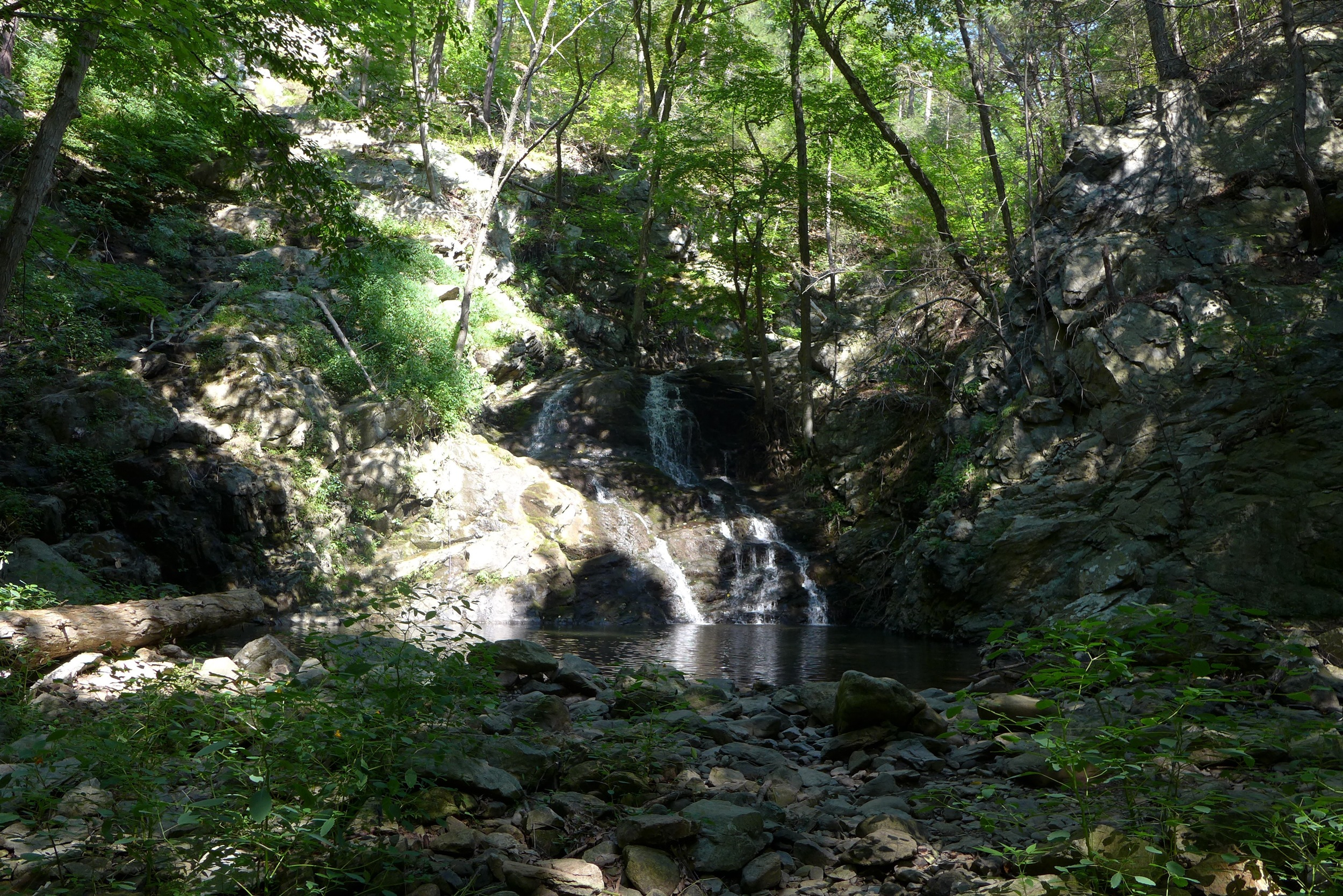 Lower falls at Philipstown Park