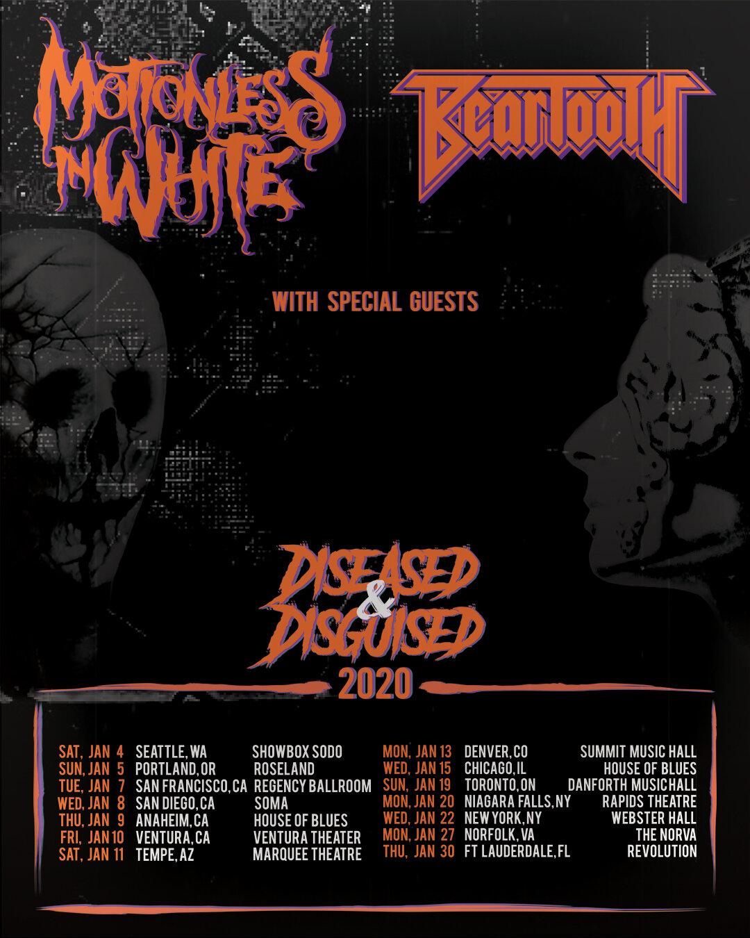 Modest Mouse Tour 2020.Motionless In White Tour 2020 Tour 2020 Infiniteradio