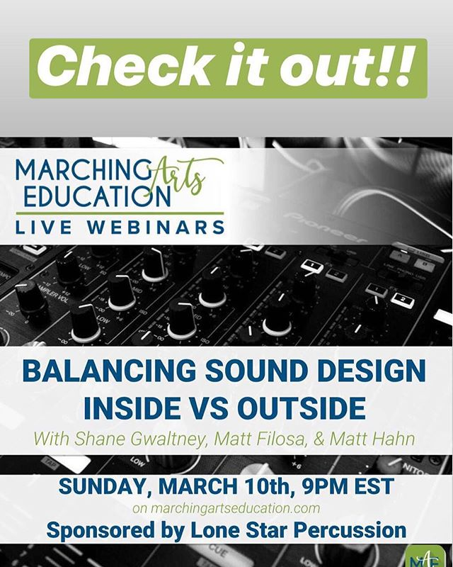 Check it out tonight!!! #RMDsquad #SyncedUp #MarchingArtsEducation