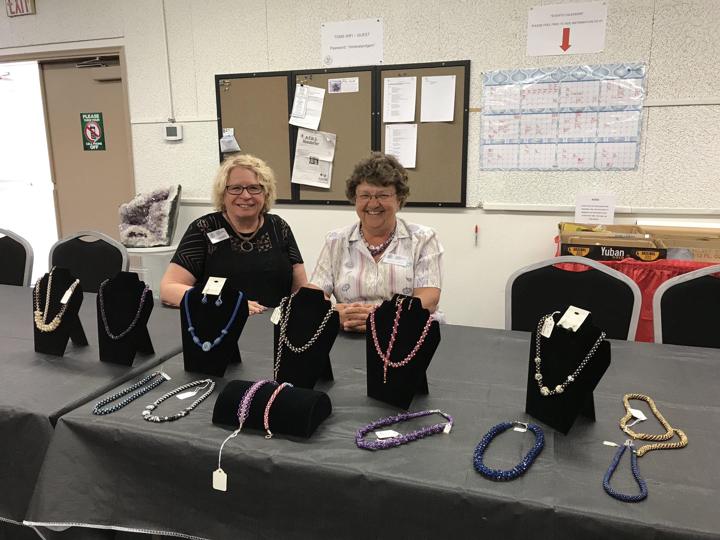 Our wonderful instructors ... Barb & Sharlene