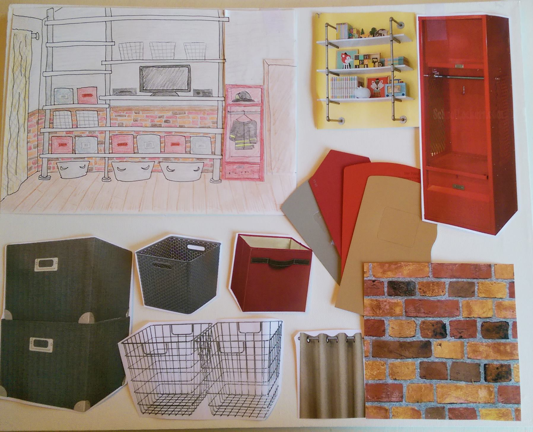 Mood Board of Shelving Plans