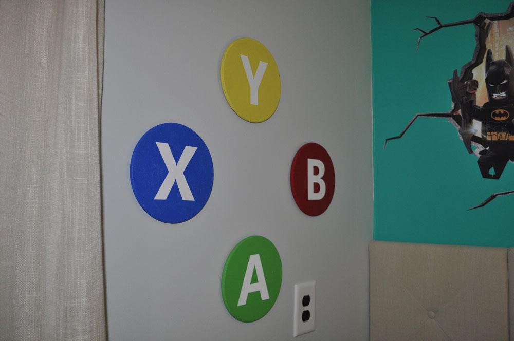 Handmade Xbox button decor