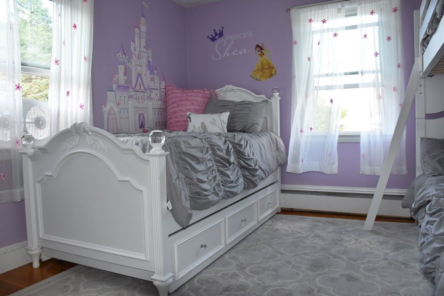 We included a trundle bed for nights when the girls need their mom, or when they want a friend to sleep over