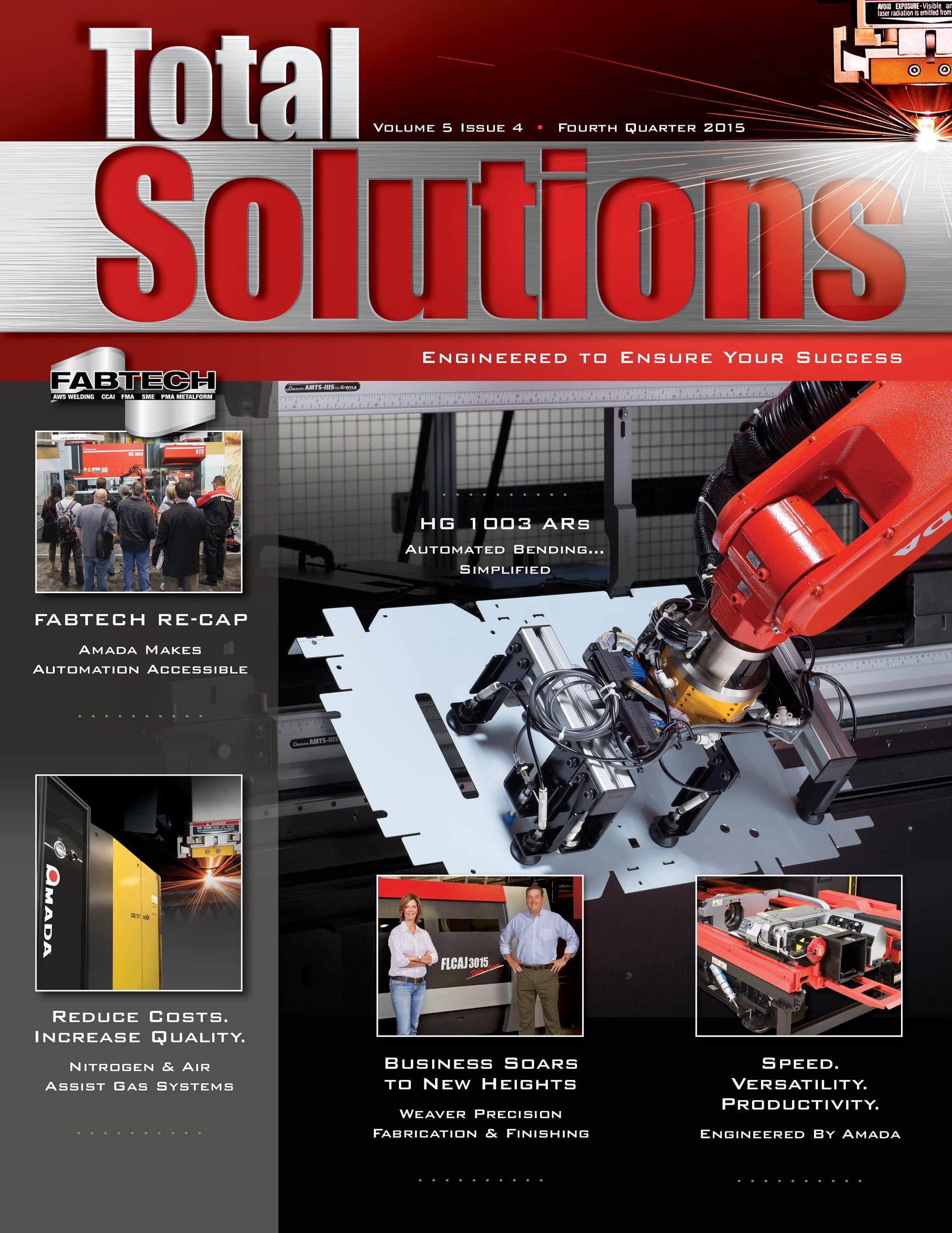 Total Solutions Magazine   Fourth Quarter, 2015