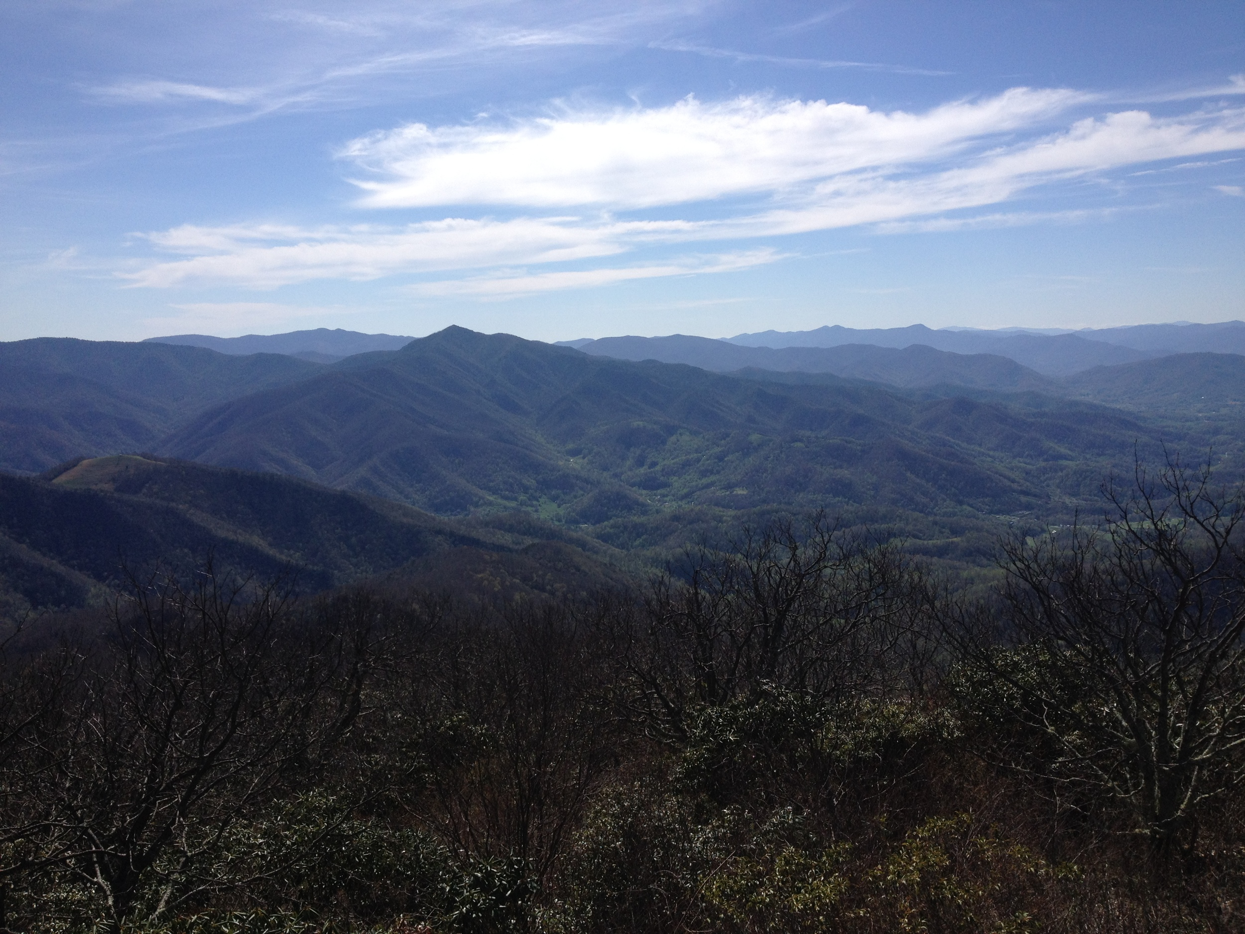 Cold Mountain as seen from Mount Pisgah