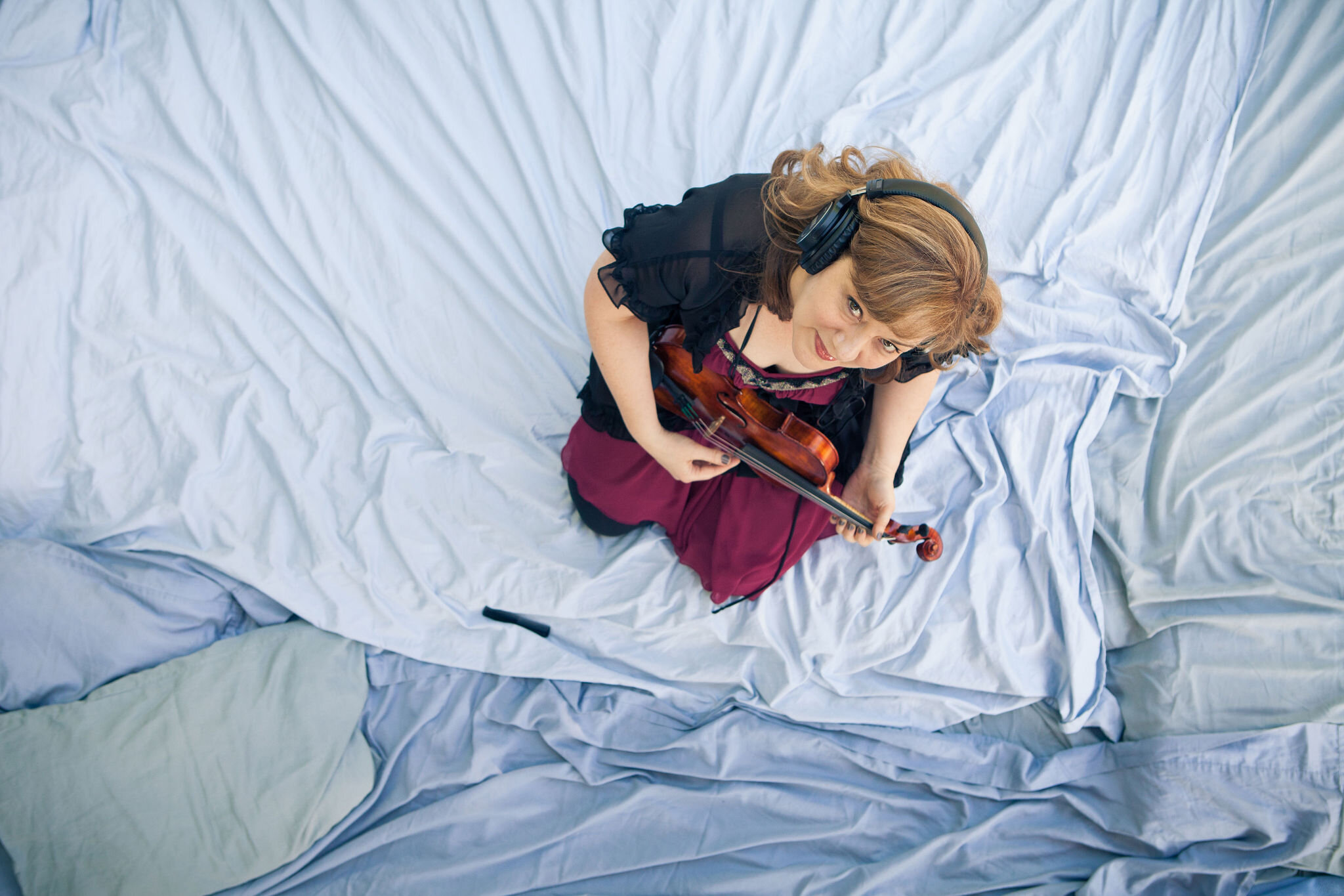Andrea Baker. Fiddle and/or Violin. Depending on her mood. Photo by Greg Cohen.