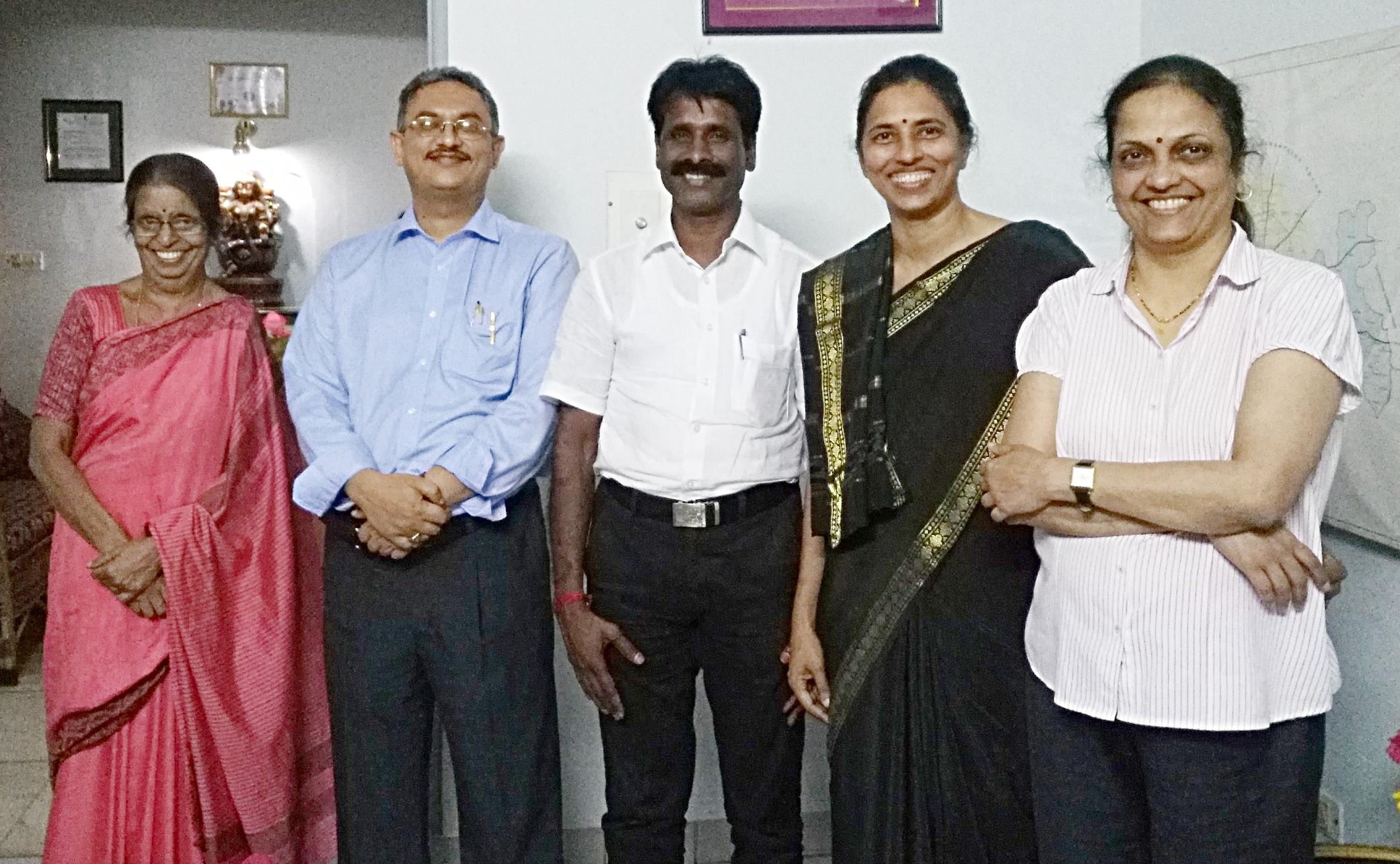From Left to Right: Dr.Indira Ramarao - Trustee, Dr.Mahesh - Trustee, Dr.Selvam Durai -Trustee, Dr.Purnima Madhivanan - Founder Trustee, Dr.Anajli Arun - Managing Trustee