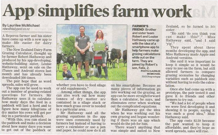 Taupo Weekender, Daily Post, NZ Herald Article 31 October 2013