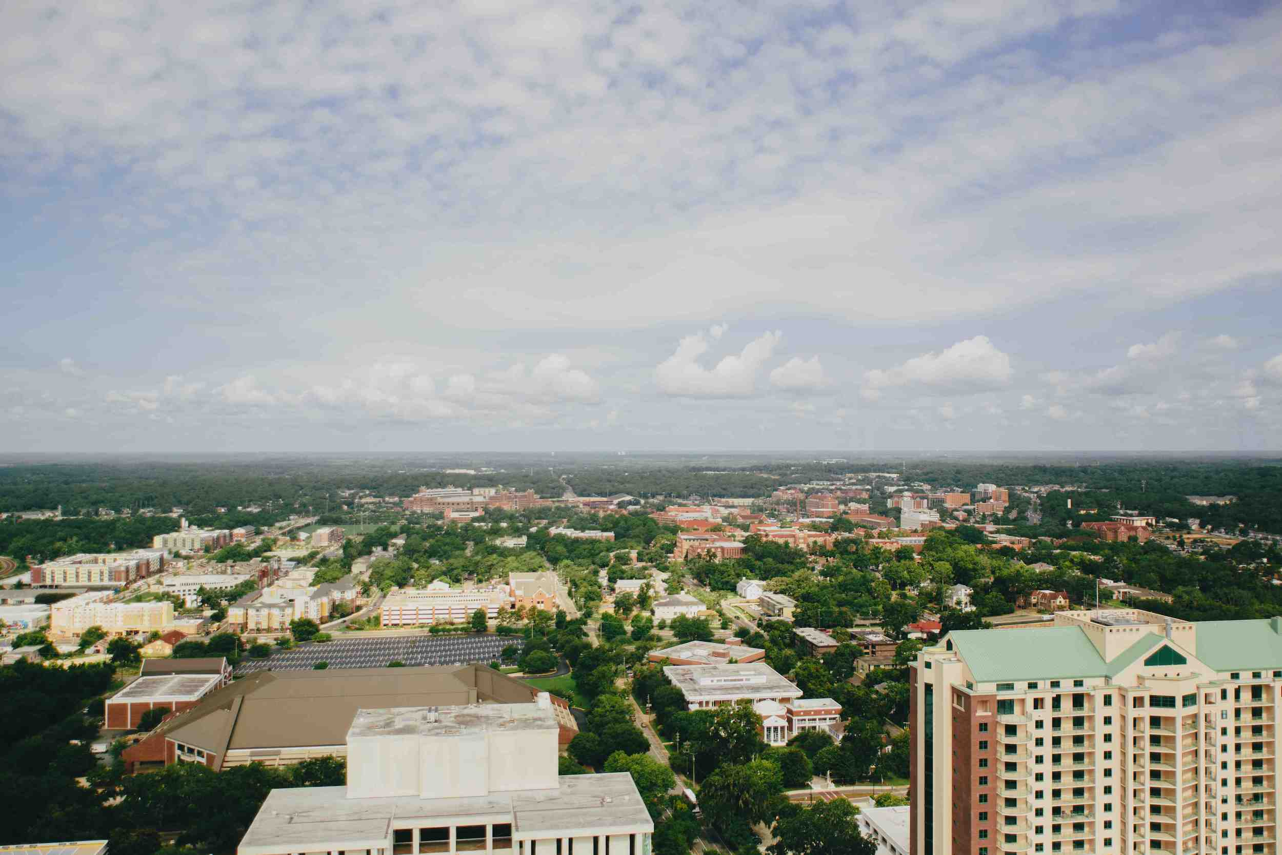 CITY VIEW OF TALLAHASSEE AND FSU CAMPUS