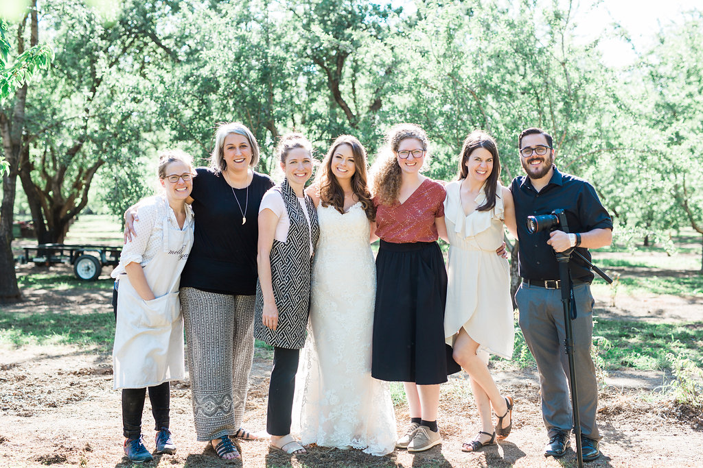 From left to right: Molly Ryan Floral, Jodi of CES Weddings, Carey of The Idea Emporium, Me, 2nd photographer Briana Morrison, Main Photographer Shannon Rosan, Videographer Alex Bridgman.