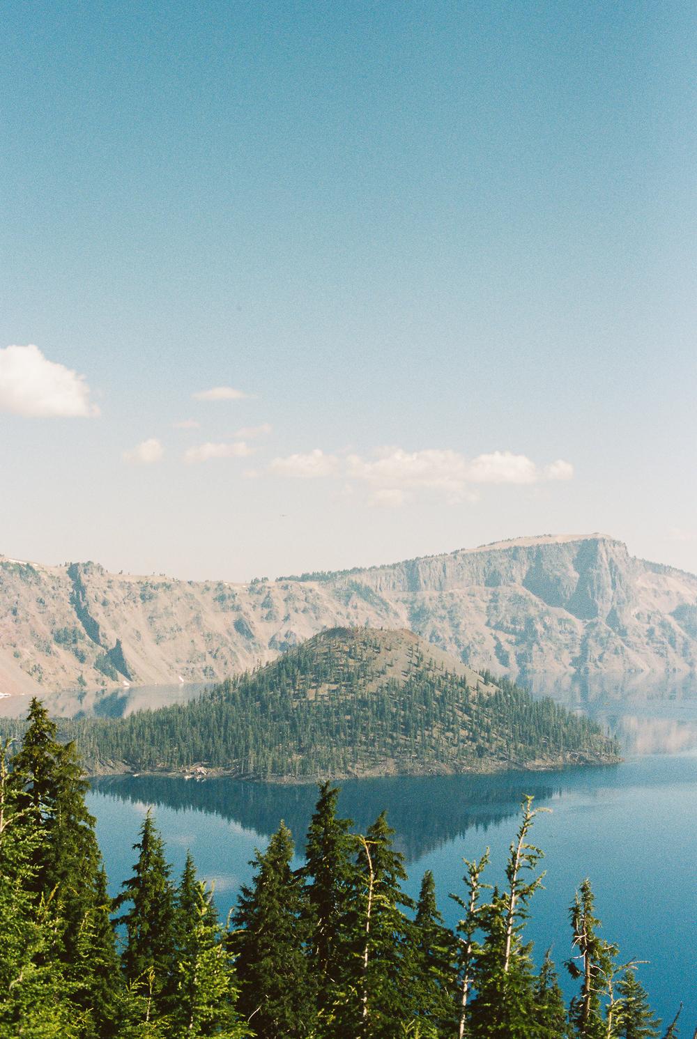 Wizard Island, Crater Lake, Oregon - Portra 400 on Nikon N90s
