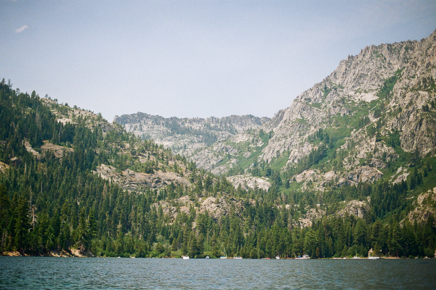 View of the Mountains from Emerald Bay
