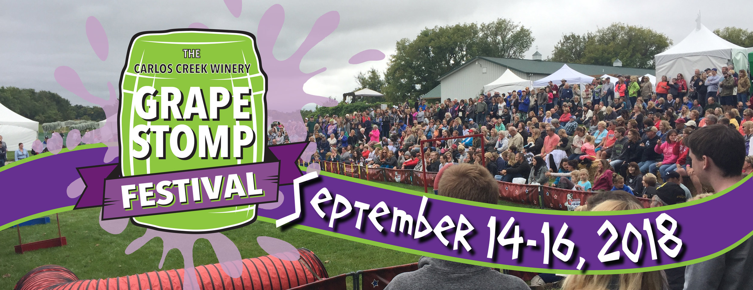Click here to go to our Grape Stomp website for more information!