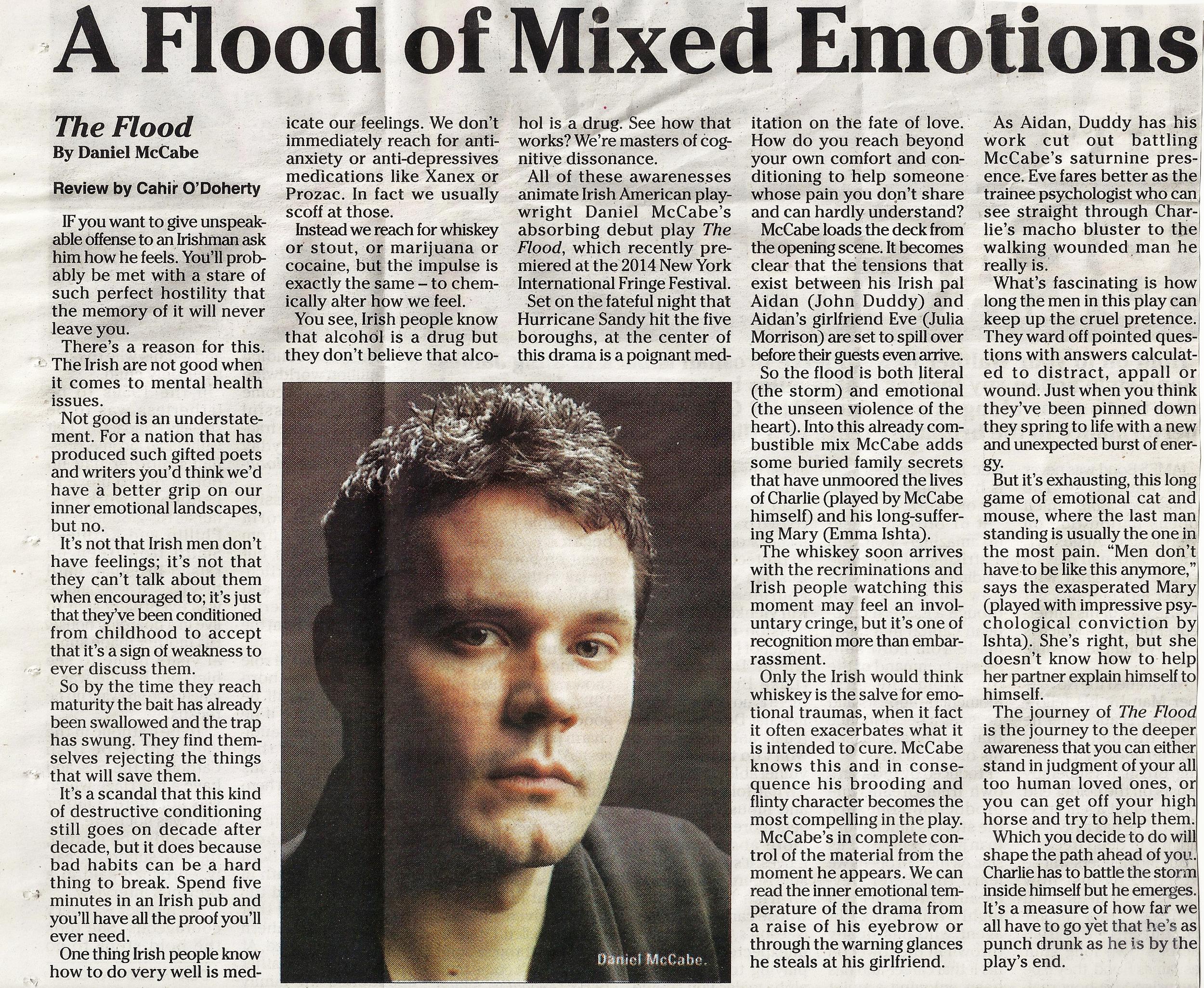 Cahir O'Doherty for The Irish Voice newspaper.