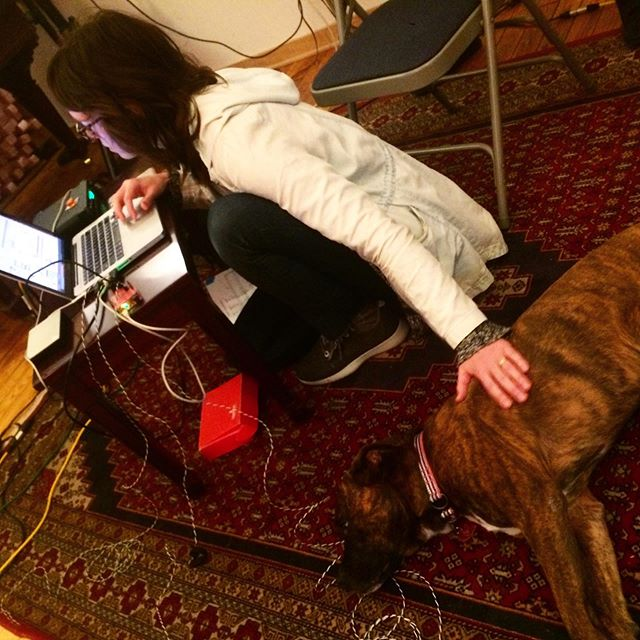 We had such a great time in #Chicago workshopping with @youngunkatie @ljankowska and one of the very best #dogs! Keep your eyes peeled for very cool things next June 👀👀