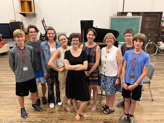 Here we are with some of the composers whose works-in-progress we read at the Minnesota Junior Composers Summer Program! We had such a great time trying out some new stuff.  #minnesota #newmusic #composers #trio #youngminds #feelingwords #courtesyaccidentals #scoreorder