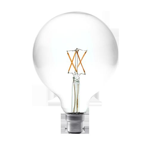 4W large round filament bulb