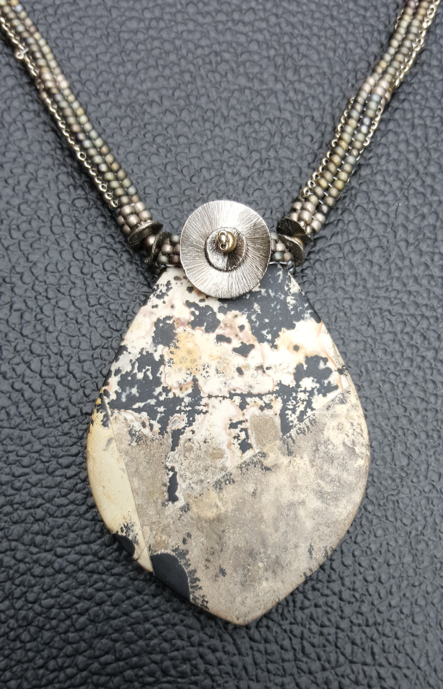 Picture Jasper Necklace in Grays