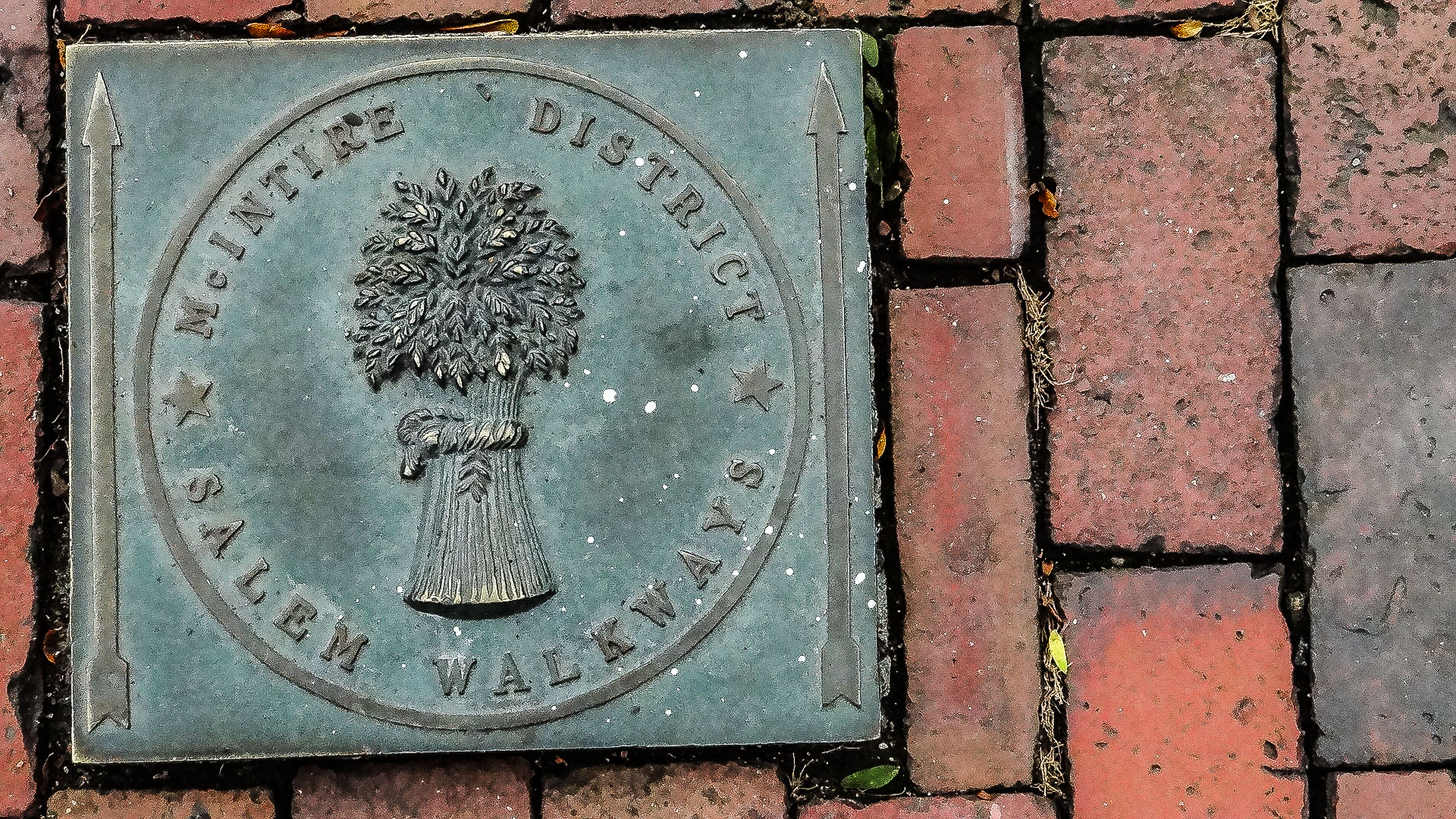 Ground Plaque in the historic McIntire District