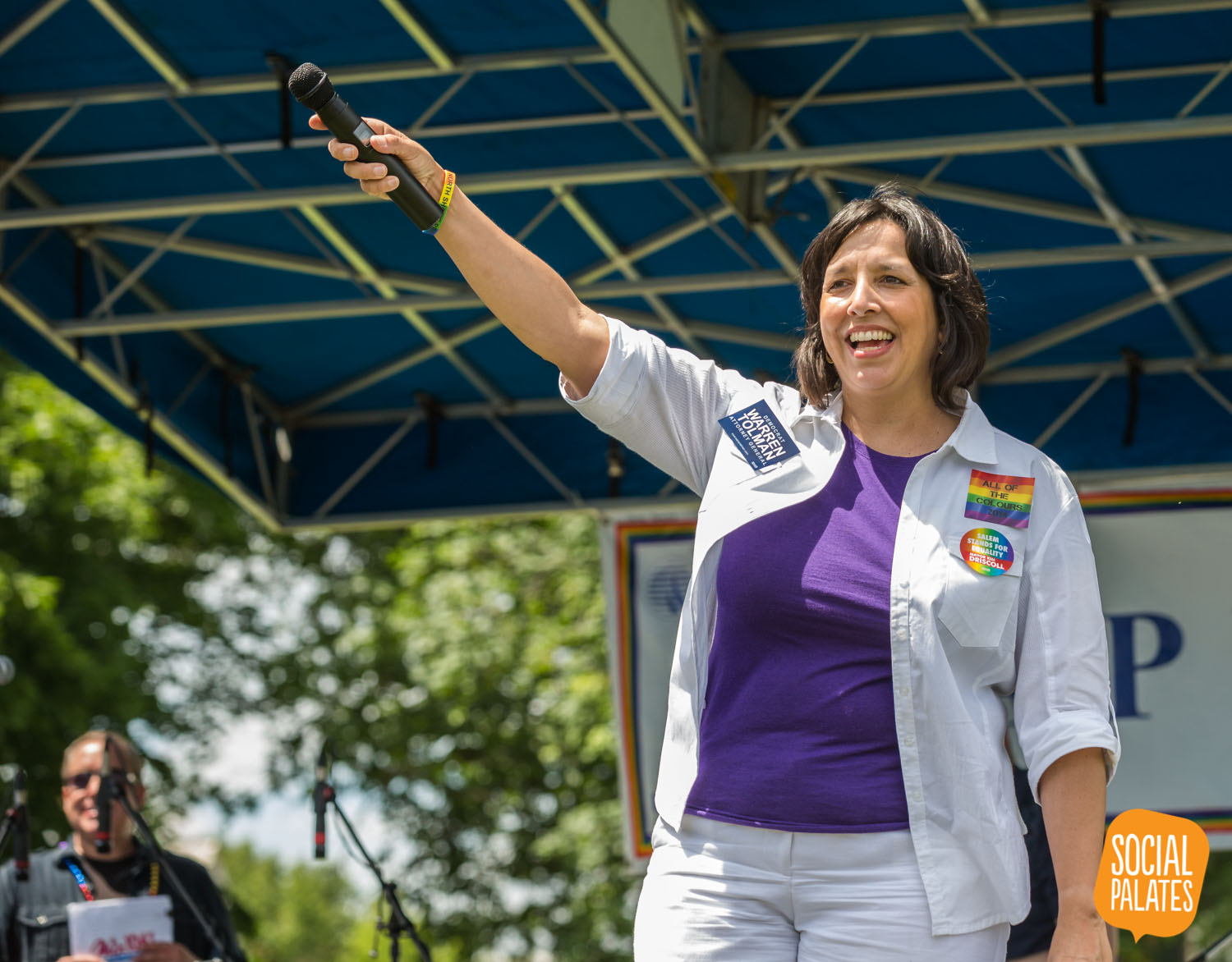 Mayor Kim Driscoll engages the record crowd