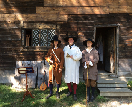Pictured, (left) Larry Young- Massachusetts Historical Society, John Berry Green- Boston Tea Party, and Scott Harris- Pioneer Village and The Witch House.