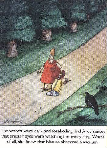 From Gary Larson's  The Far Side