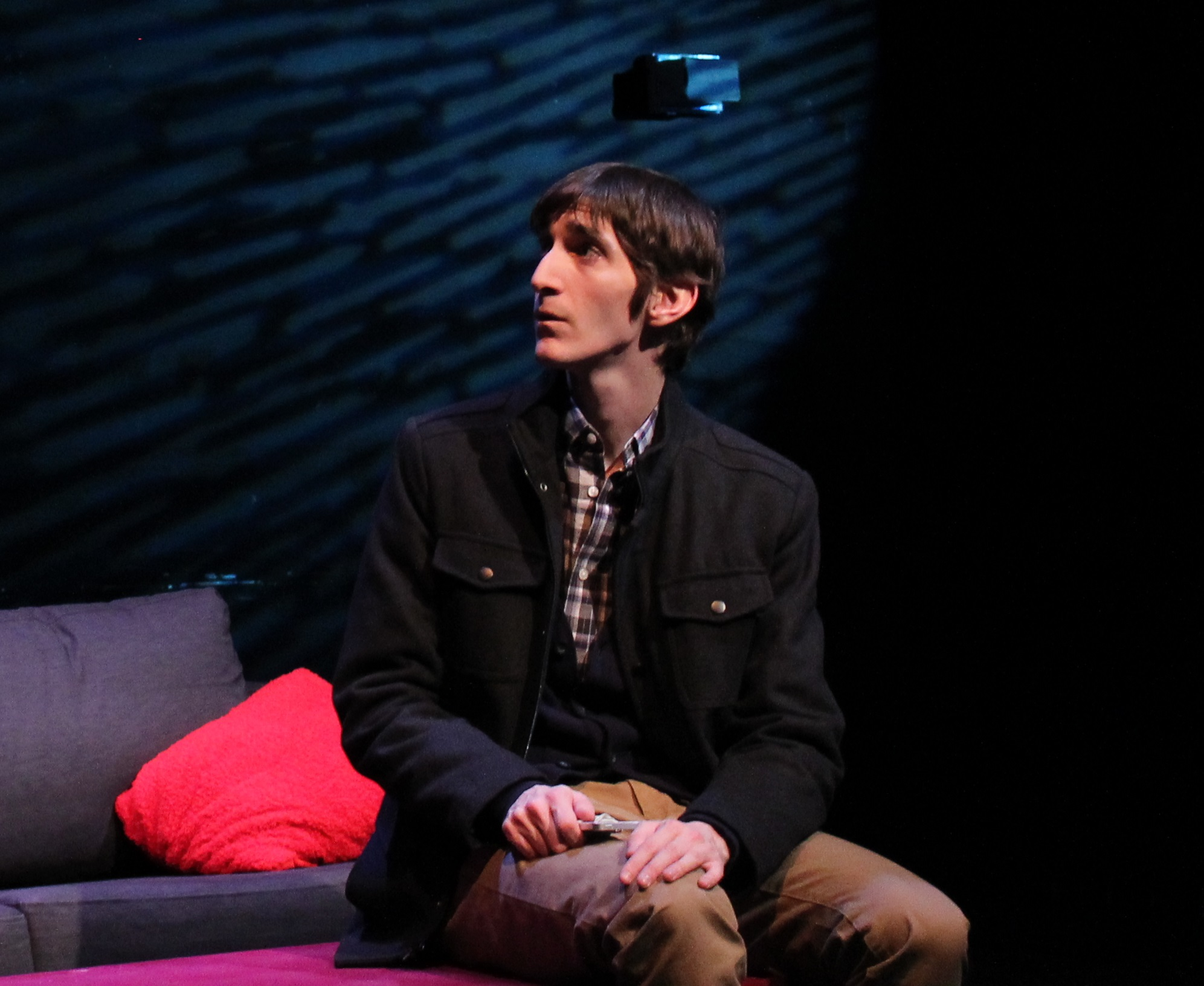 """Patrick as Gregory in Xavier University's """"From White Plains."""""""