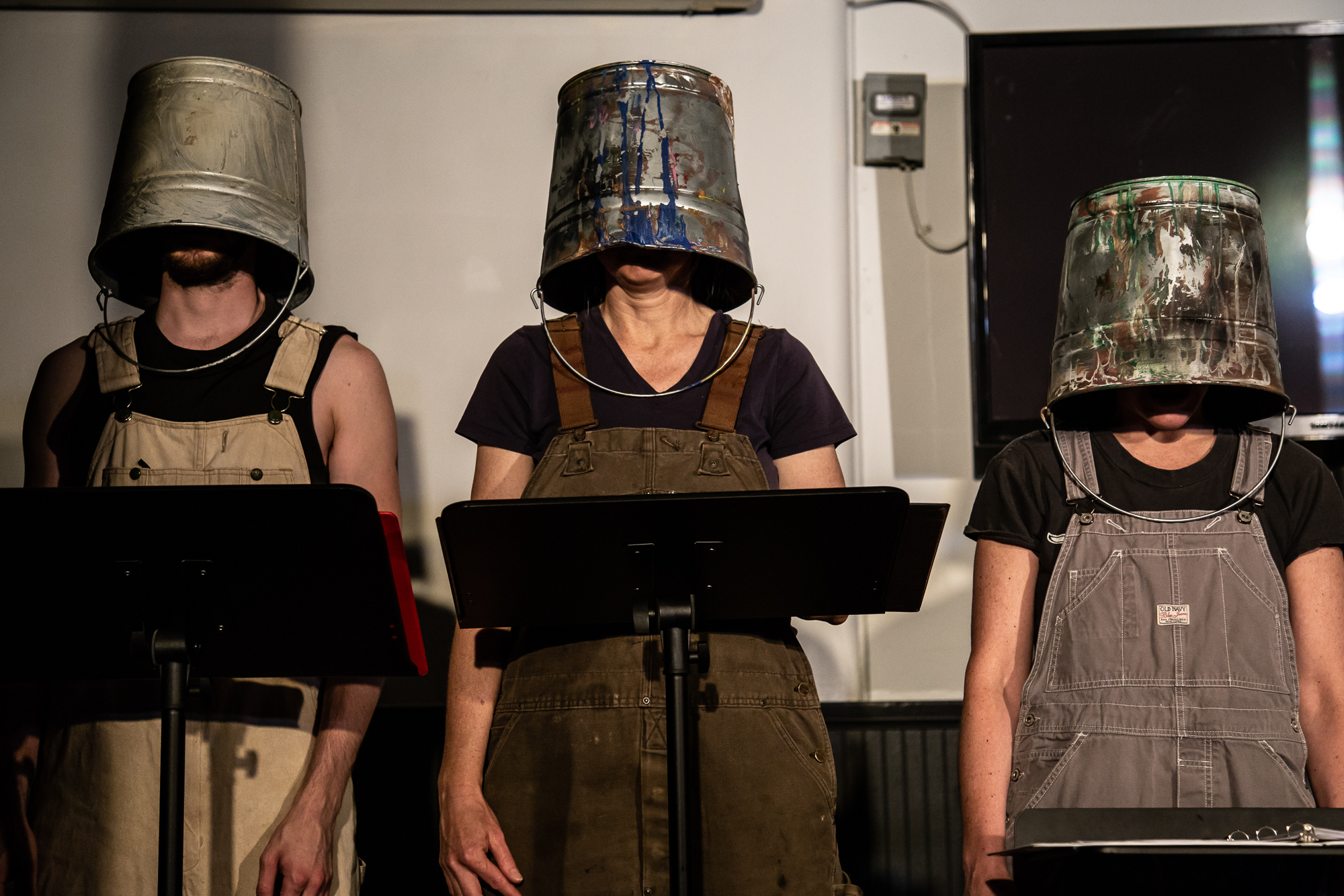 "Patrick Earl Phillips, Mary Tensing and Jodie Linver in ""Vox Box"""