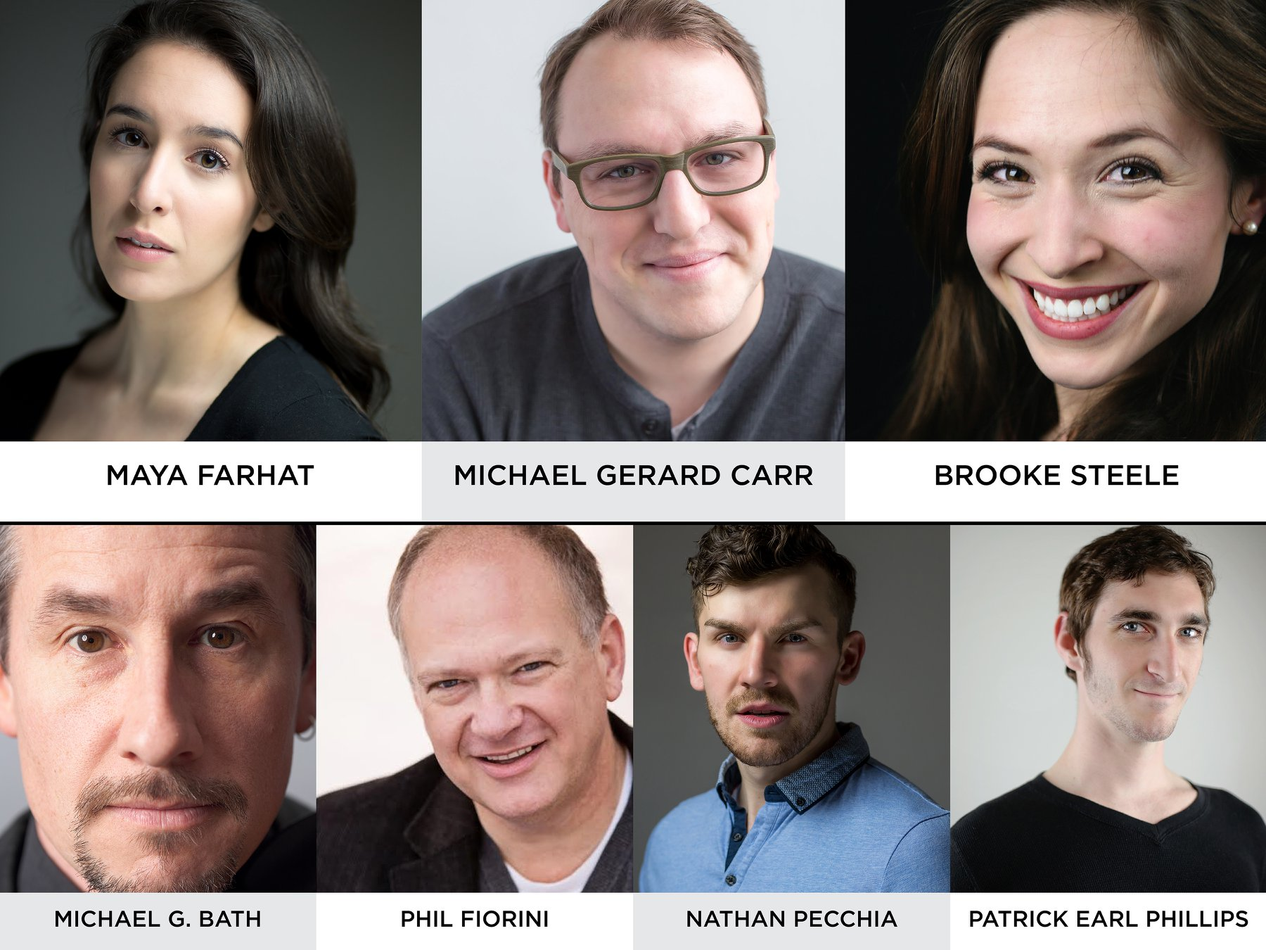 "The cast of ""Fly By Night"" at Ensemble Theatre Cincinnati."